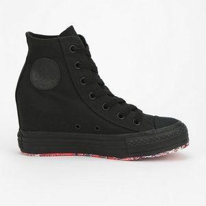 Black Converse Hidden Wedge Hightop Sneaker